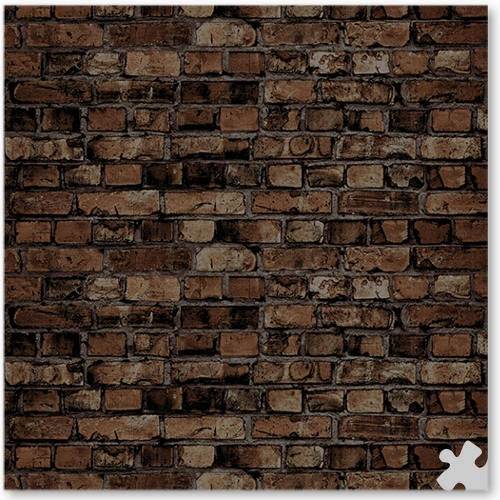 Aged Brown Brick Ella Bella Backdrop Paper