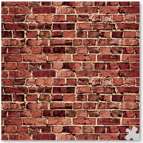 Aged Red Brick Ella Bella Backdrop Paper