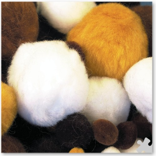 Animal Coloured Pom Poms