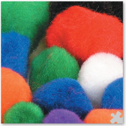 Pom Poms in Assorted Sizes 25, 38 & 51mm
