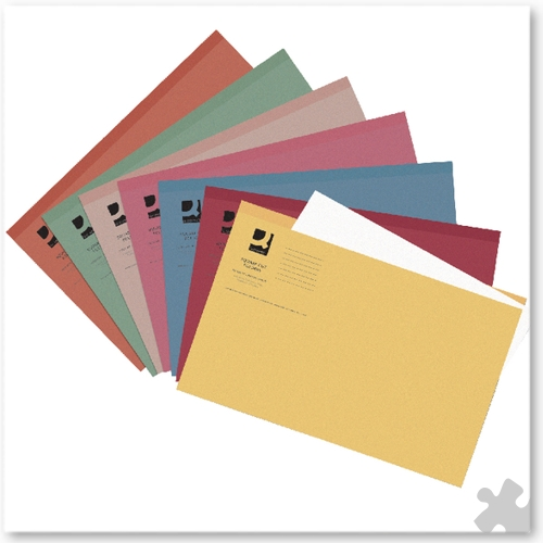 Square Cut Light Weight Folders, 100 Assorted