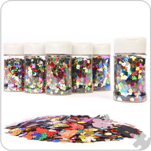 Collage Shape Sequins Classpack