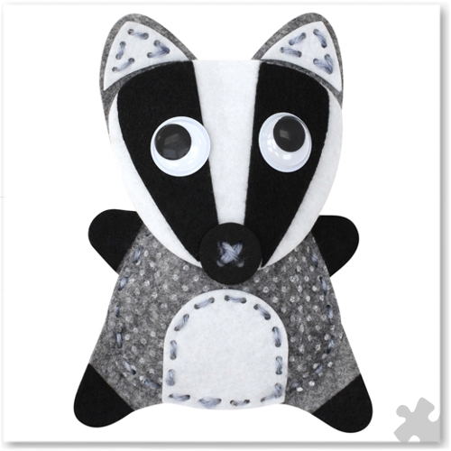 Barney the Badger Woodland Buddies Sew Kit