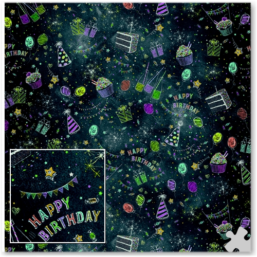 Birthday Ella Bella Backdrop Paper