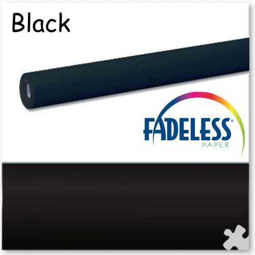 15m Roll of Black Fadeless Display Paper