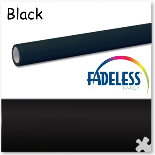 Black Fadeless Display Paper 3.6m Roll