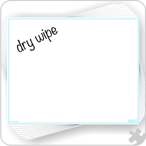 Blank Write 'n' Wipe Boards, A3
