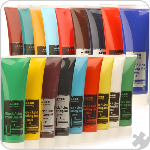 Block/Lino Printing Inks - 25 Standard Colours