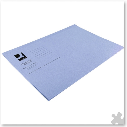 Square Cut Light Weight Folders, 100 Blue