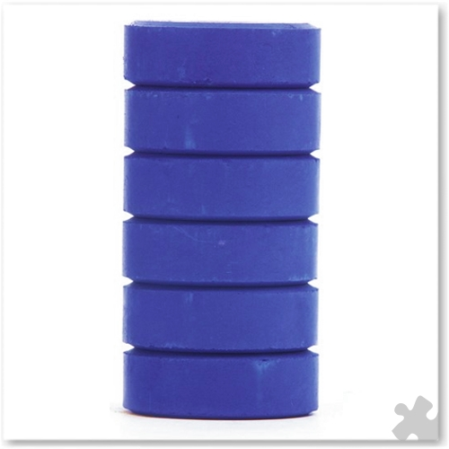 Blue Tempera Colour Blocks, 6 Pack