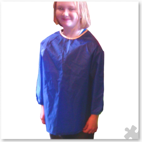 Childrens Nylon 'Raglan' Apron in Blue, Ages 6 to 8