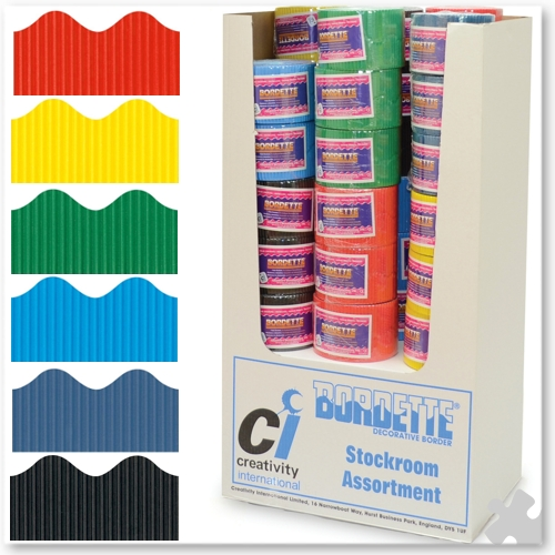 36 Roll Bordette Stockroom Assortment in 6 colours