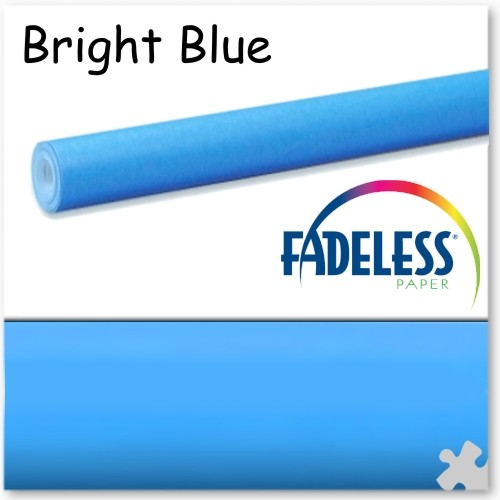 Bright Blue Fadeless Display Paper - 15m Roll