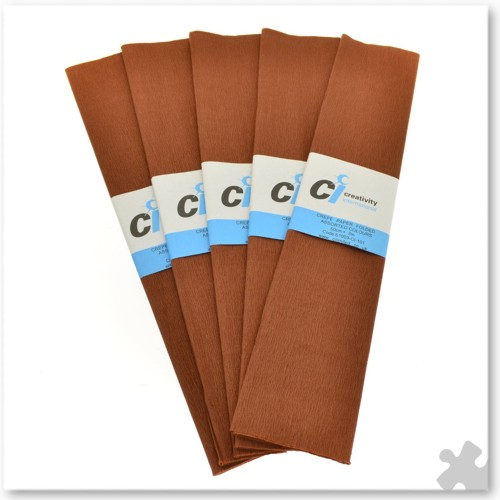 Brown Crepe Paper, 10 x 3m Sheets