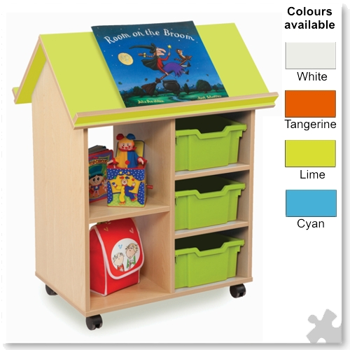 Bubblegum Book House with 3 Deep Trays