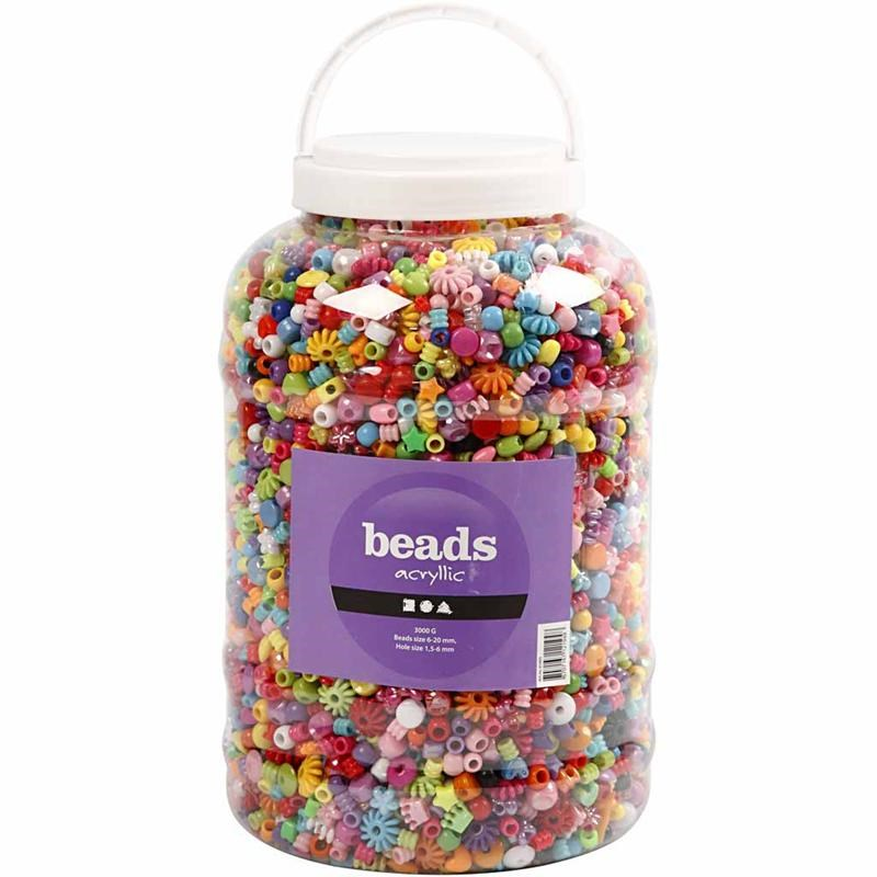 Bucket of Plastic Beads