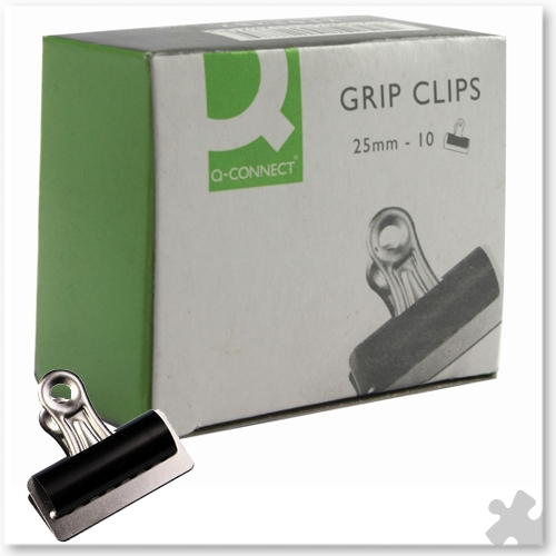 10 Bulldog Clips 25mm
