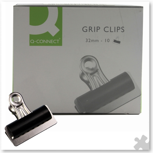 10 Bulldog Clips, 32mm