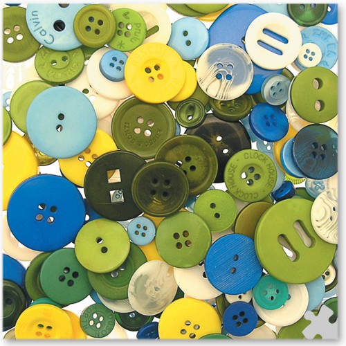 Craft Buttons in Cool Colours