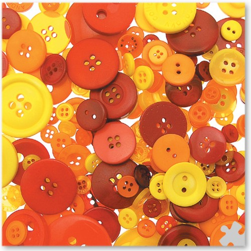 Craft Buttons in Warm Colours