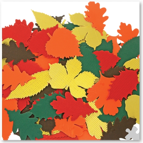 Corrugated Autumn Leaves Die Cuts