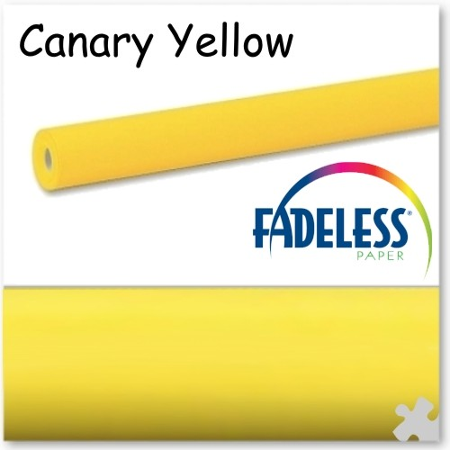 Canary Yellow Fadeless Display Paper 15m Roll