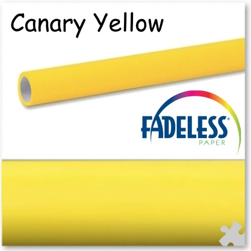 Canary Yellow Fadeless Display Paper 3.6m Roll