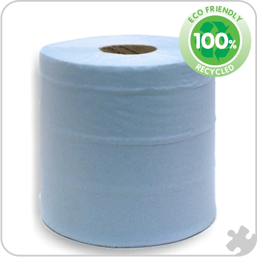 Premium Standard Centre Feed Roll, Blue 1 Ply