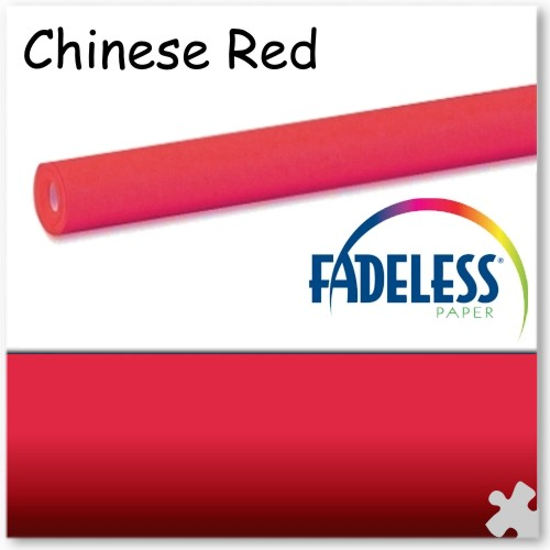 15m Roll of Chinese Red Fadeless Display Paper