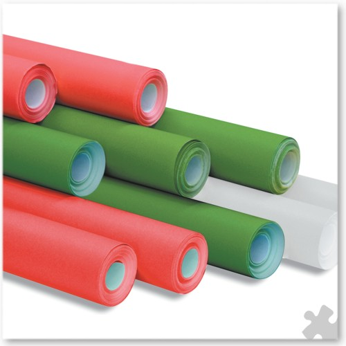 10 Rolls of Poster Paper in Christmas Colours