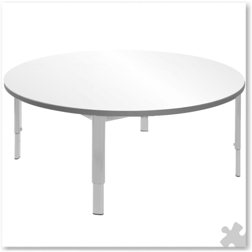 Circular Whiteboard Adjustable Table