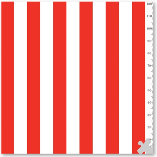 Red & White Classic Stripes Fadeless Display Paper, 15m
