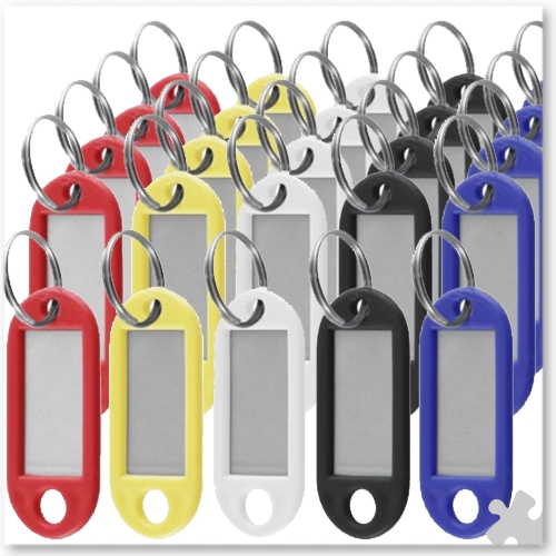 60 Coloured Key Fobs