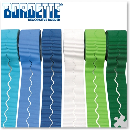 6 Rolls Bordette Display Borders in Cool Colours