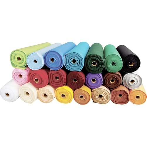 Craft Felt in 20 Assorted Colours, 5m Rolls