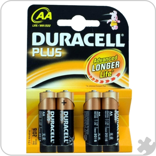 Duracell AA Batteries, Pack of 4