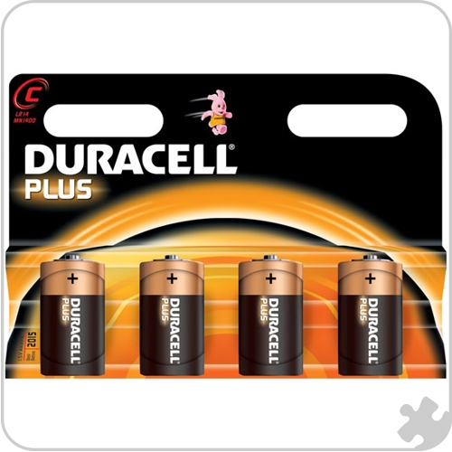Duracell C Batteries, Pack of 4