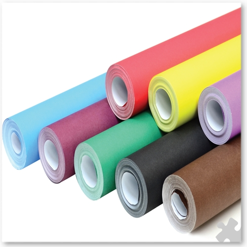 Extra Wide Fadeless Display Paper, 8 Roll Assortment