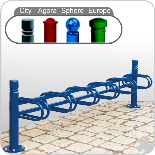 Decorative 6 Spaced Bicycle Stand