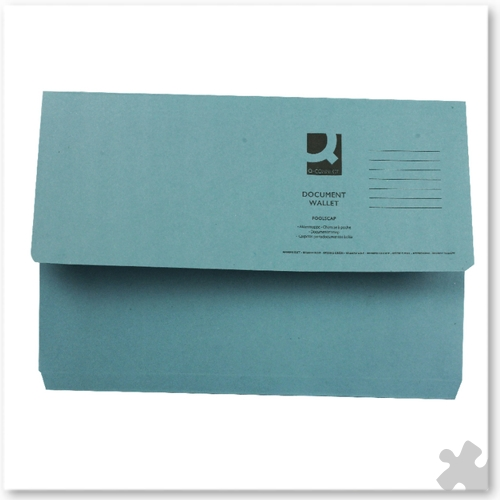 Document Wallets, 50 Blue
