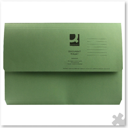 Document Wallets, 50 Green
