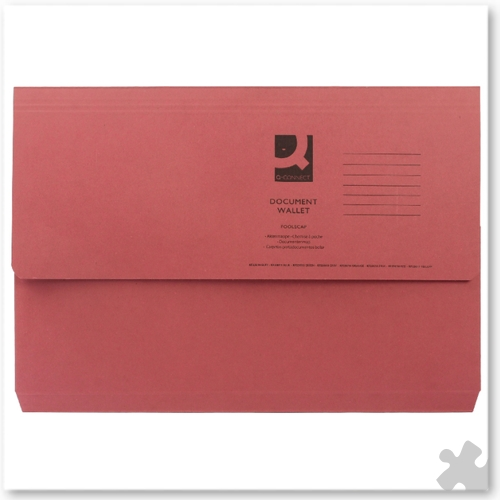 Document Wallets, 50 Red