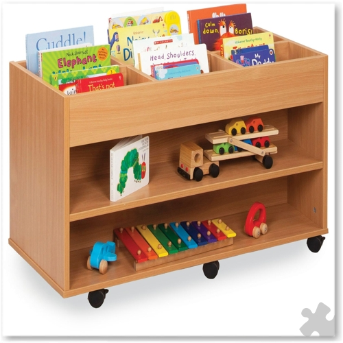 6 Bay Kinderbox with Shelf Each Side
