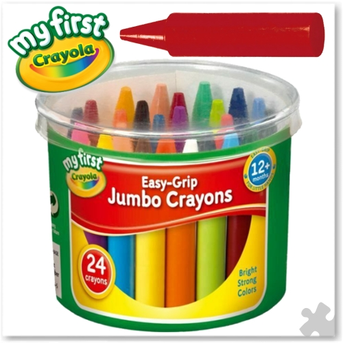 Crayola Easy Grip Jumbo Crayons - 24 Assorted