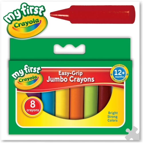 Crayola Easy Grip Jumbo Crayons - 8 Assorted
