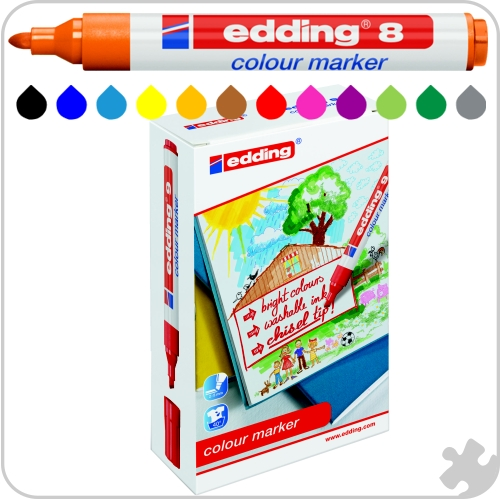 Edding Colour Marker 8, 12 Pack
