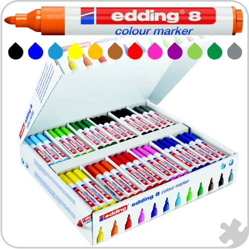 Edding Colour Marker 8, 144 Pack