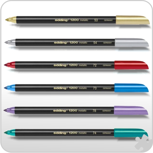 Edding - Metallic Fibrepen 6 Pack Assorted