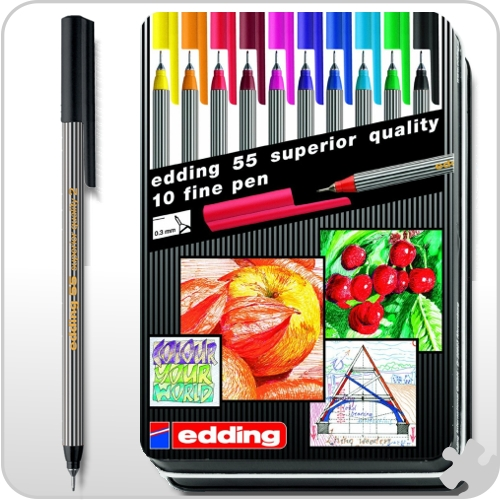 Edding - Fineliners 10 pack Assorted