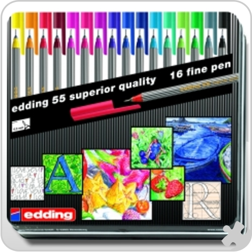 Edding - Fineliners 16 Pack Assorted